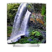 Dry Falls 2 In Western North Carolina Shower Curtain