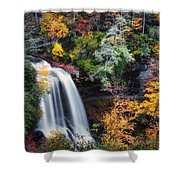 Dry Falls In Autumn Shower Curtain