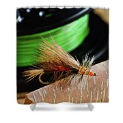 Dry Fly - D003399b Shower Curtain