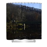 Dry Fork At Jenningston Shower Curtain by Randy Bodkins