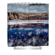 Dry Lagoon Blues Shower Curtain