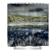 Dry Lagoon Winter Shower Curtain