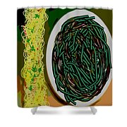 Dry Sauteed Stringbeans Shower Curtain
