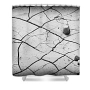 Cracks Of Time... Shower Curtain