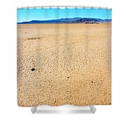 Dry Soil In Death Valley - Color Shower Curtain