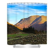 Dry Stone Walls In Patterdale In The Lake District Shower Curtain