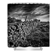 Dry Stone Walls Shower Curtain