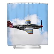 Dual Control Tp-51c Mustang Shower Curtain
