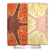 Dual Personality Shower Curtain by PainterArtist FIN