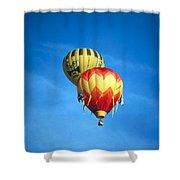 Dualing Ballons Shower Curtain