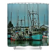 Duashala Fishing Boat Hdrbt4247-13 Shower Curtain