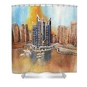 Dubai Marina Complex Shower Curtain