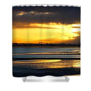 Dublin Bay Sunset Shower Curtain