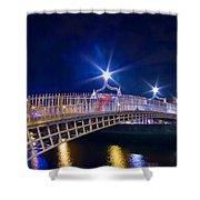 Dublin - Ha'penny Bridge  Shower Curtain