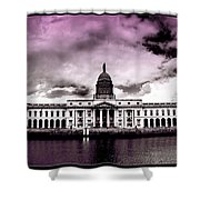 Dublin - The Custom House - Lilac Shower Curtain