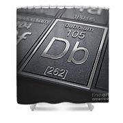 Dubnium Chemical Element Shower Curtain