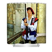 Dubrovnik Guard Shower Curtain