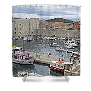 Dubrovnik Old Harbour Shower Curtain