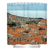 Dubrovnik Rooftops And Walls Shower Curtain