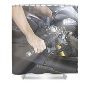 Ducati Touch V2 Shower Curtain