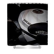 Ducati-unplugged V13 Shower Curtain