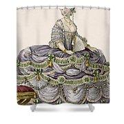 Duchess Evening Gown, Engraved Shower Curtain