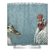 Duck Chicken Shower Curtain
