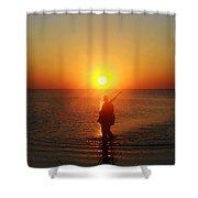 Duck Hunter Sunset 3 1/25 Shower Curtain