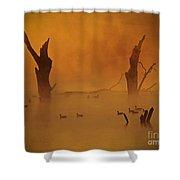 Duck Pond Shower Curtain