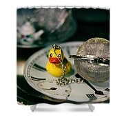 Duck The Hour Shower Curtain