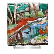 Duckpond Shower Curtain