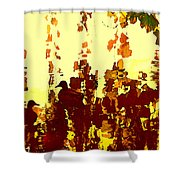 Ducks On Red Lake 2 Shower Curtain