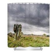 Duddo Prehistoric Stone Cicle Shower Curtain