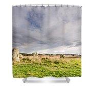 Duddo Stone Circle Shower Curtain
