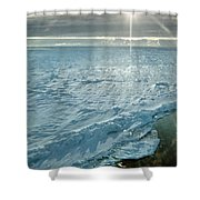 Due South 1.30am Ross Sea Shower Curtain