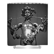 Duel Flute Bw Shower Curtain