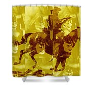 Duel In The Saddle 1 Shower Curtain