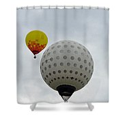 Dueling Balloons 2 Shower Curtain