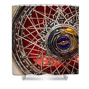 Duesenberg Wheel Shower Curtain