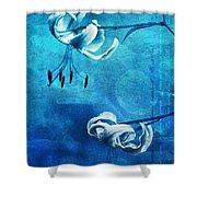 Duet - Blue03 Shower Curtain