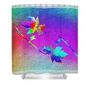 Duet In The Treetops Shower Curtain
