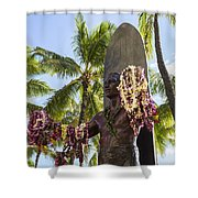 Duke Kahanamoku Statue Shower Curtain