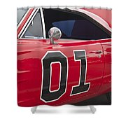 Dukes Of Hazard General Lee Shower Curtain