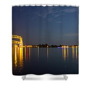 Duluth Harbor At Night Shower Curtain