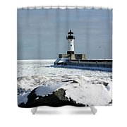 Duluth Harbor Lighthouse Shower Curtain