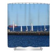 Duluth Mn Harbor Shower Curtain