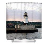 Duluth Mn Lighthouse Skyline Shower Curtain