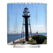 Duluth Mn Lighthouses  Shower Curtain