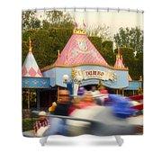 Dumbo Flying Elephants Fantasyland Signage Disneyland 02 Shower Curtain
