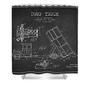 Dump Truck Patent Drawing From 1934 Shower Curtain